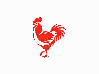 Rooster Logo for Sale cock hen restaurant original unique modern food farm bird chicken rooster illustration animal vector mark design branding logo