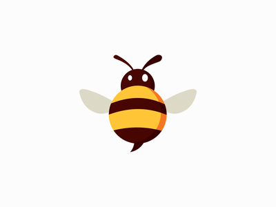 Fat Bee Logo for Sale emblem icon kids cartoon mascot cute fat beekeper honey insect bee illustration animal vector mark design branding logo