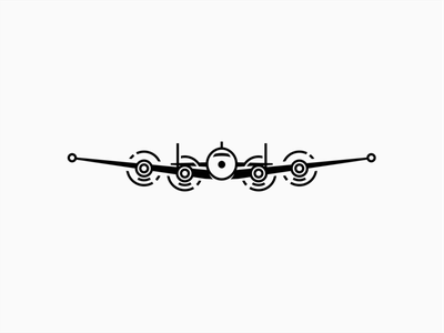 Plane logistics consultancy aviation flight plane mark branding design logo
