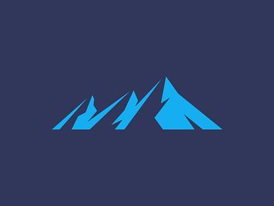 Mountains flatirons flat geometric mountains mark branding design logo