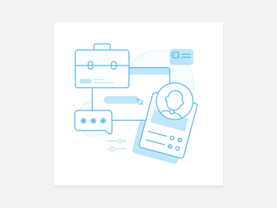 Icon Illustration profile mercado pago mercado libre icon flat illustration