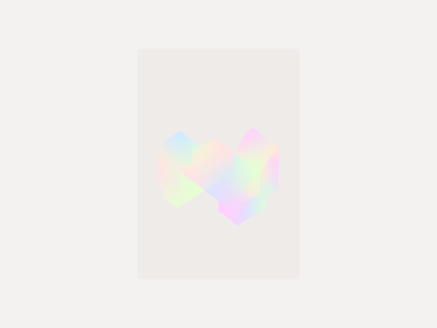 Liquid I minmal color gradient geometry geometric poster flyer flat aesthetic