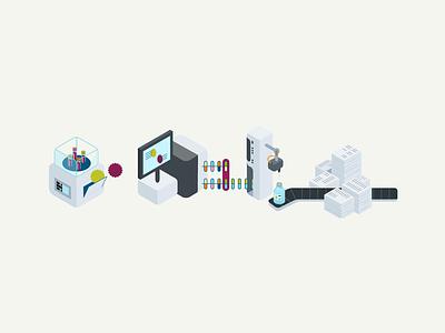 Siemens Technology motion motion graphics flat aesthetic illustration