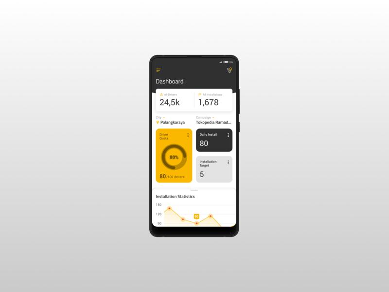 """StickVendor """"New"""" Dashboard mobile layout apps ux ui design"""