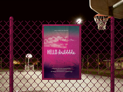 Hello Dribbble! design court poster debut dribbble