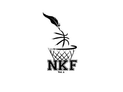 independent forum writing basketball design logo