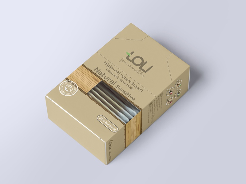 100% biodegradable wooden Q-tips package design product design typography design creativity