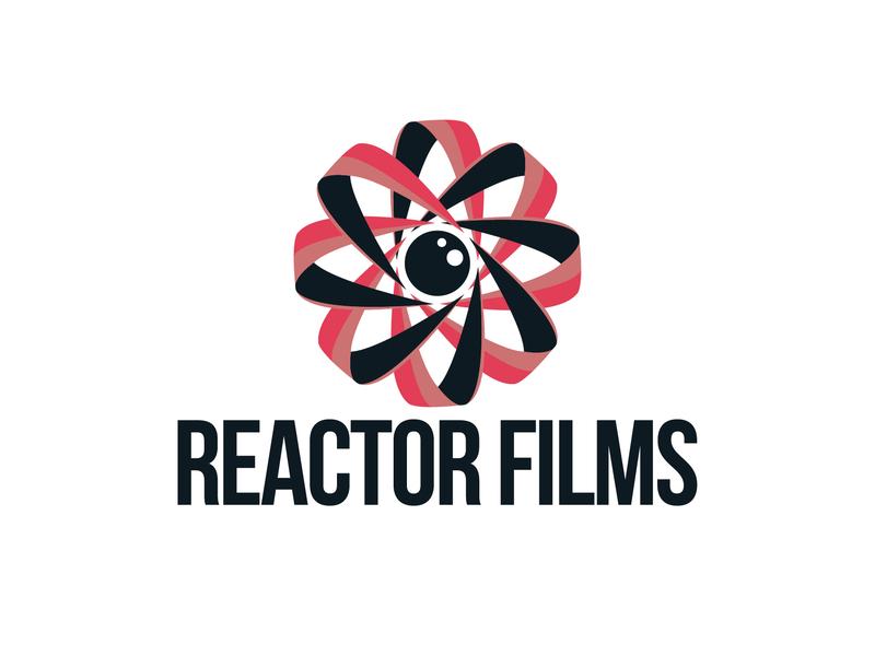 Reactor films logo creativity vector logo design