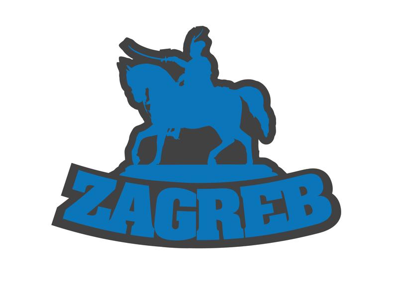 Zagreb sticker design
