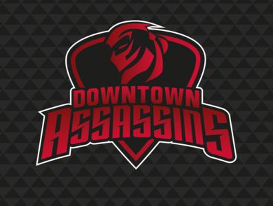 Downtown Assassins typography creativity vector logo design