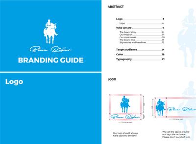 Bluerider branding guides 2020 branding typography vector logo creativity design