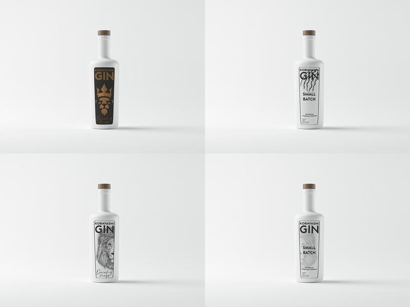 Kobayashi Gin label label design labeldesign design