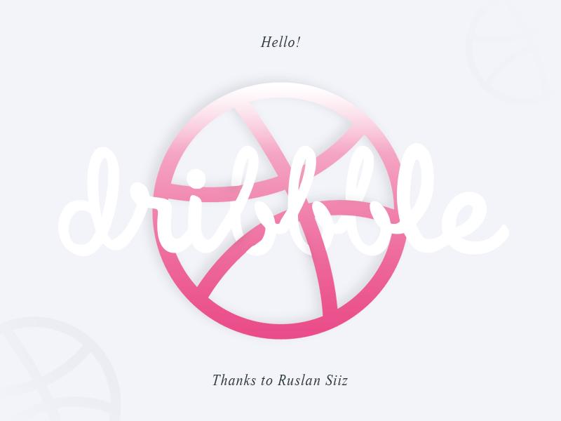 Hello dribbble! thanks render shot first process hello flat debut creation ui invitation dribbble