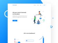 Socio Track Landing page exploration