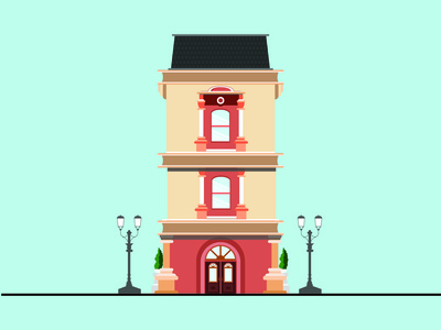 Flat house -  Vector Art