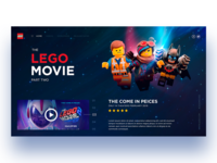 LEGO Move uiux uxui design userinterfacedesign interfacedesign userinterface film lego desktop concept design concept uxuidesign uidesign uxdesign webdesign
