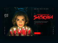 Sabrina uidesign uxdesign interface userinterface serial movie film magic netflix concept desktop design webdesign ux ui sabrina