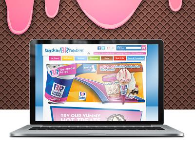 Baskin Robbins UK website bondmedia webdesign icecream baskinrobbins