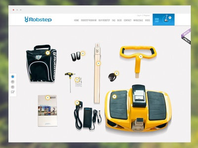 Robstep homepage cssda award hover parts robstep hotspots interactive homepage home