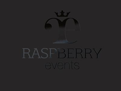 Raspberry Events Branding bondmedia branding luxury classy logo raspberry black
