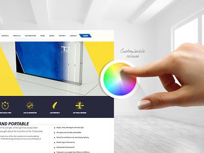 T3 Systems website design tecna homepage web ux ui colours t3 design website