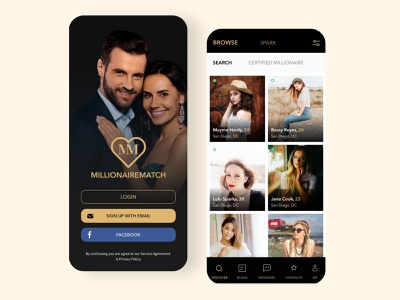 Dating Mobile App icon app logo ui clean ui design ux branding typography minimal design