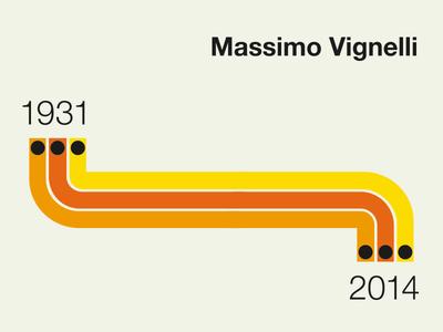 Massimo Vignelli Commemorative Stamp