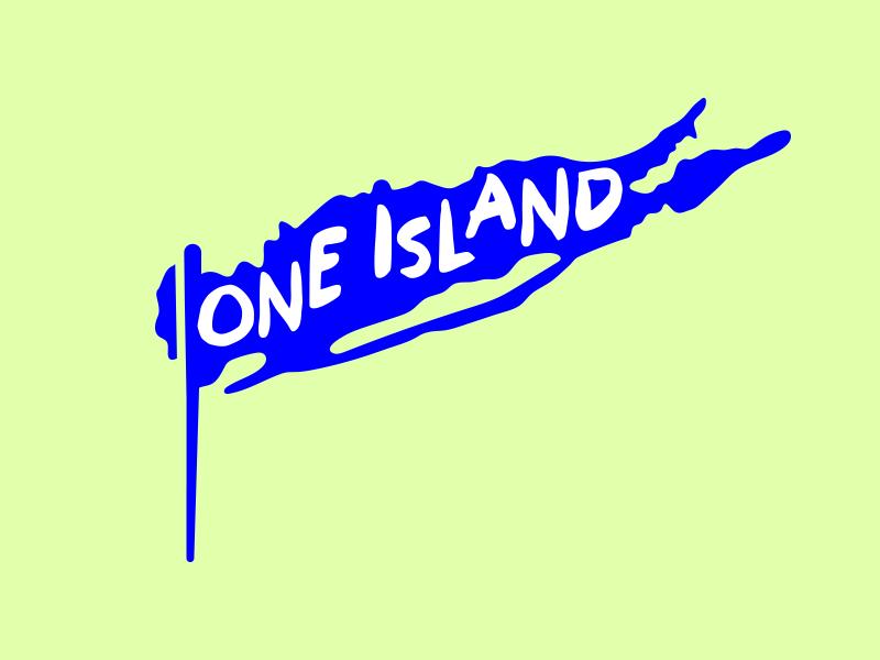 One Island Logo Alternate charity long island identity logo