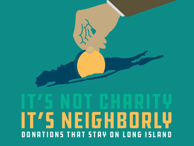 One Island Giving Campaign long island charity illustration campaign advertising