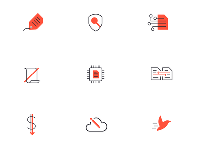 InCloudCounsel Icons branding icons set legal cloud document symbols icons