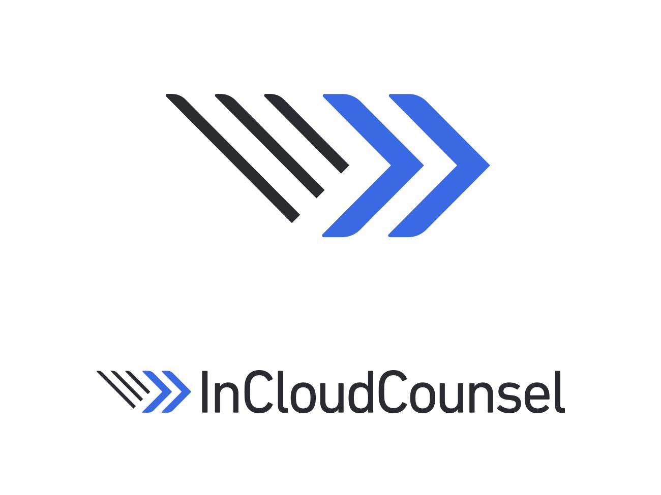 InCloudCounsel Logo service legal document identity branding identity logo