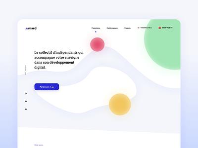 Homepage colorful webdesign website web branding ux ui shot clean design sketch