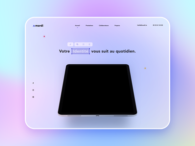 Blur Webdesign desktop branding purple gradient landing ux ui web webdesign blur shot clean sketch design