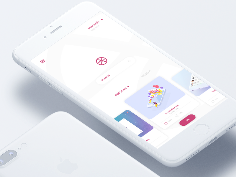 One Shot iphone ios mobile app shot first invitation dribbble sketch ux ui