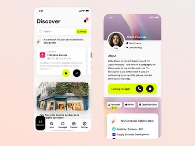 Mobile App - Profile branding ios shot mobile iphone app ux ui clean design sketch