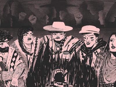 Masculinity, agro and violence: LGBT in the soy kingdom ilustracion editorial editorial illustration revista anfibia argentina pride gay pride lgbtqia lgbtq lgbt