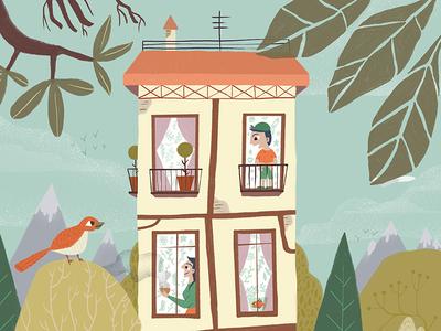 A house photoshop wacom house ilustracion illustration