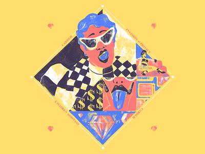 Top 3 Albums 2018: Cardi B design photoshop digital ilustracion wacom illustration invasion of privacy cardi b