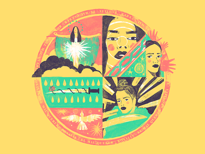 "Top 3 Albums 2018: ""El Mal Querer"", by Rosalía art music rosalia design photoshop digital ilustracion wacom illustration"