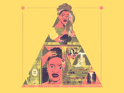 "Top 3 Albums 2018: ""Everything is Love"", by The Carters album artwork cover album art jay-z beyoncé album the carters beyonce design photoshop digital ilustracion wacom illustration"