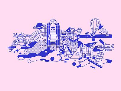 Voyageur: illustration assets illustrator vector design digital ilustracion wacom illustration