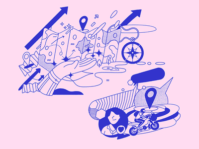 Voyageur branding illustrated assets vector design digital ilustracion wacom illustration