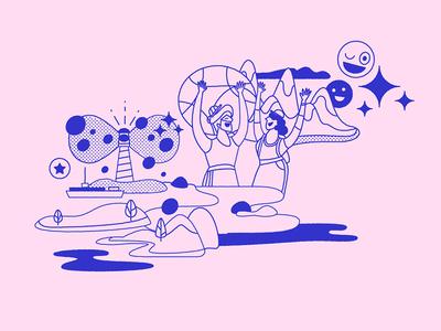 Voyageur branding illustrated assets vector digital ilustracion illustration