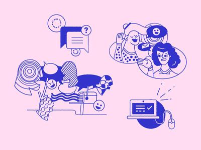 Voyageur branding illustrated assets illustrator vector digital ilustracion wacom illustration