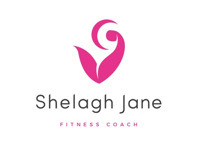 Shelagh Jane fitness coach logo fitness bicep logo personal trainer