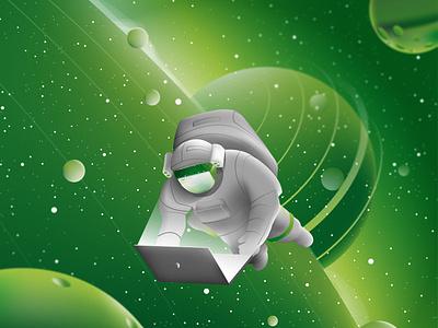 Upwork Enterprise vector interaction design color artwork branding artist ux ui design illustration