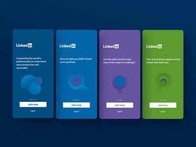 Onboarding Linkedin Concept illustration inspiration artist color artwork design interactive interface animation trend new interaction design ux ui