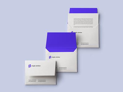 Single window branding envelope