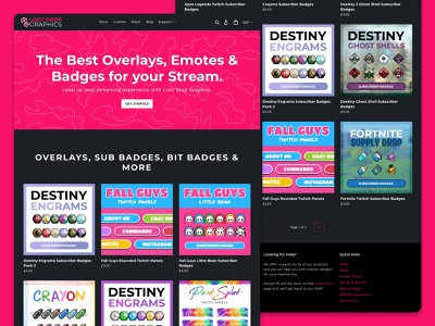 Loot Drop Graphics overlays shopify content creator youtube twitch streamer
