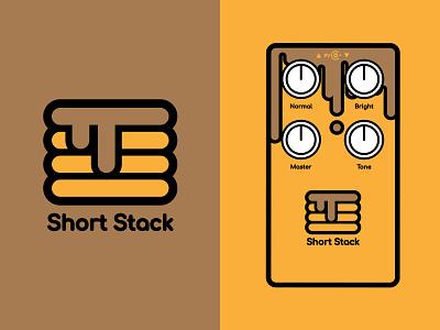 Short Stack Logo & Guitar Artwork music vector illustration artwork pancakes short stack pedal guitar